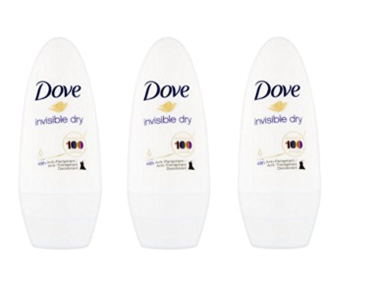 レザー期待して応じるDove Invisible Dry 48 Hs Anti-perspirant Roll-on Deodorant. 50 Ml. (Pack of 3) by Dove [並行輸入品]