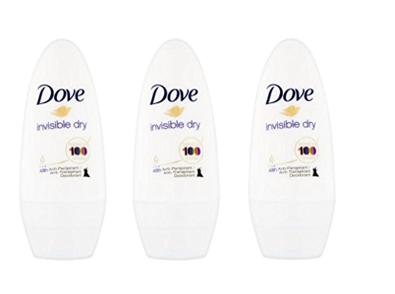 手のひら未使用資金Dove Invisible Dry 48 Hs Anti-perspirant Roll-on Deodorant. 50 Ml. (Pack of 3) by Dove [並行輸入品]