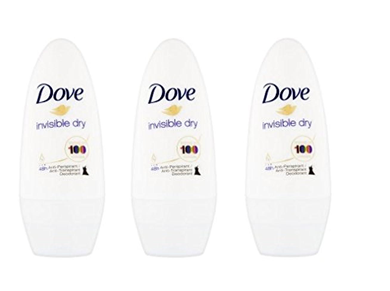 定義操縦する一般Dove Invisible Dry 48 Hs Anti-perspirant Roll-on Deodorant. 50 Ml. (Pack of 3) by Dove [並行輸入品]