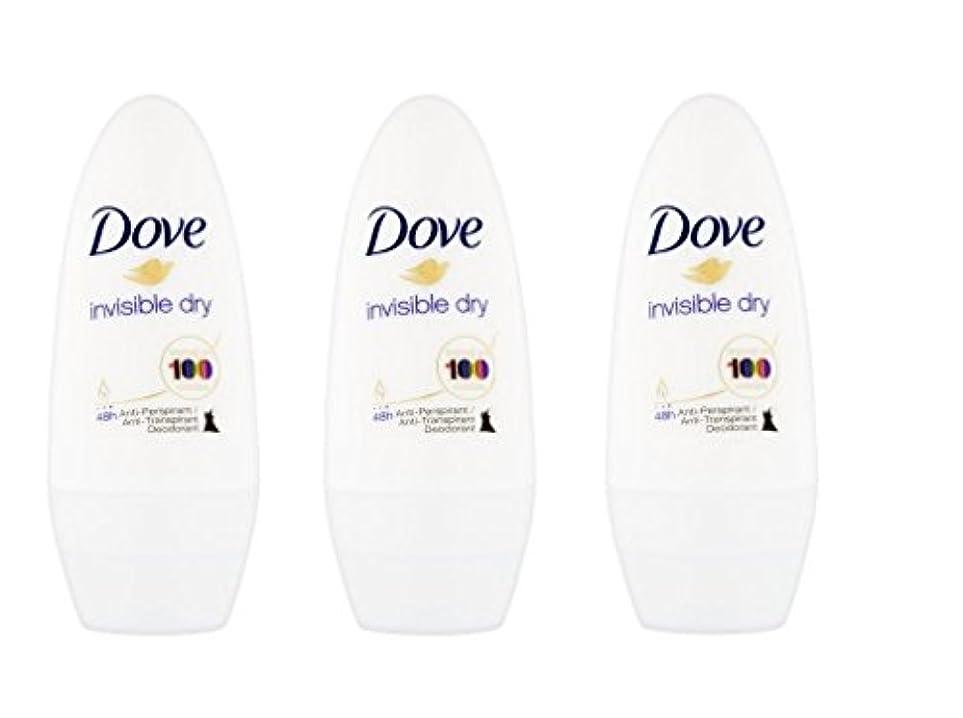 ロマンチック食堂故国Dove Invisible Dry 48 Hs Anti-perspirant Roll-on Deodorant. 50 Ml. (Pack of 3) by Dove [並行輸入品]