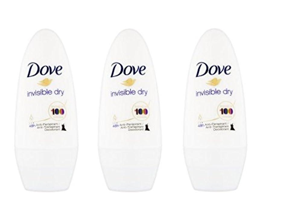 類人猿放出評決Dove Invisible Dry 48 Hs Anti-perspirant Roll-on Deodorant. 50 Ml. (Pack of 3) by Dove [並行輸入品]