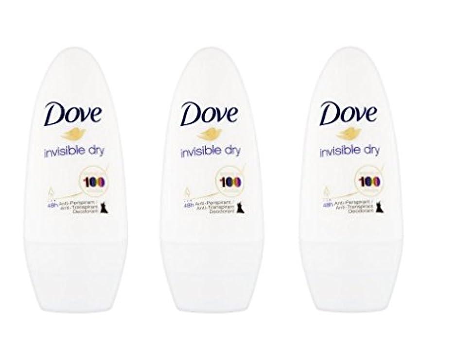 マージン引き金努力するDove Invisible Dry 48 Hs Anti-perspirant Roll-on Deodorant. 50 Ml. (Pack of 3) by Dove [並行輸入品]