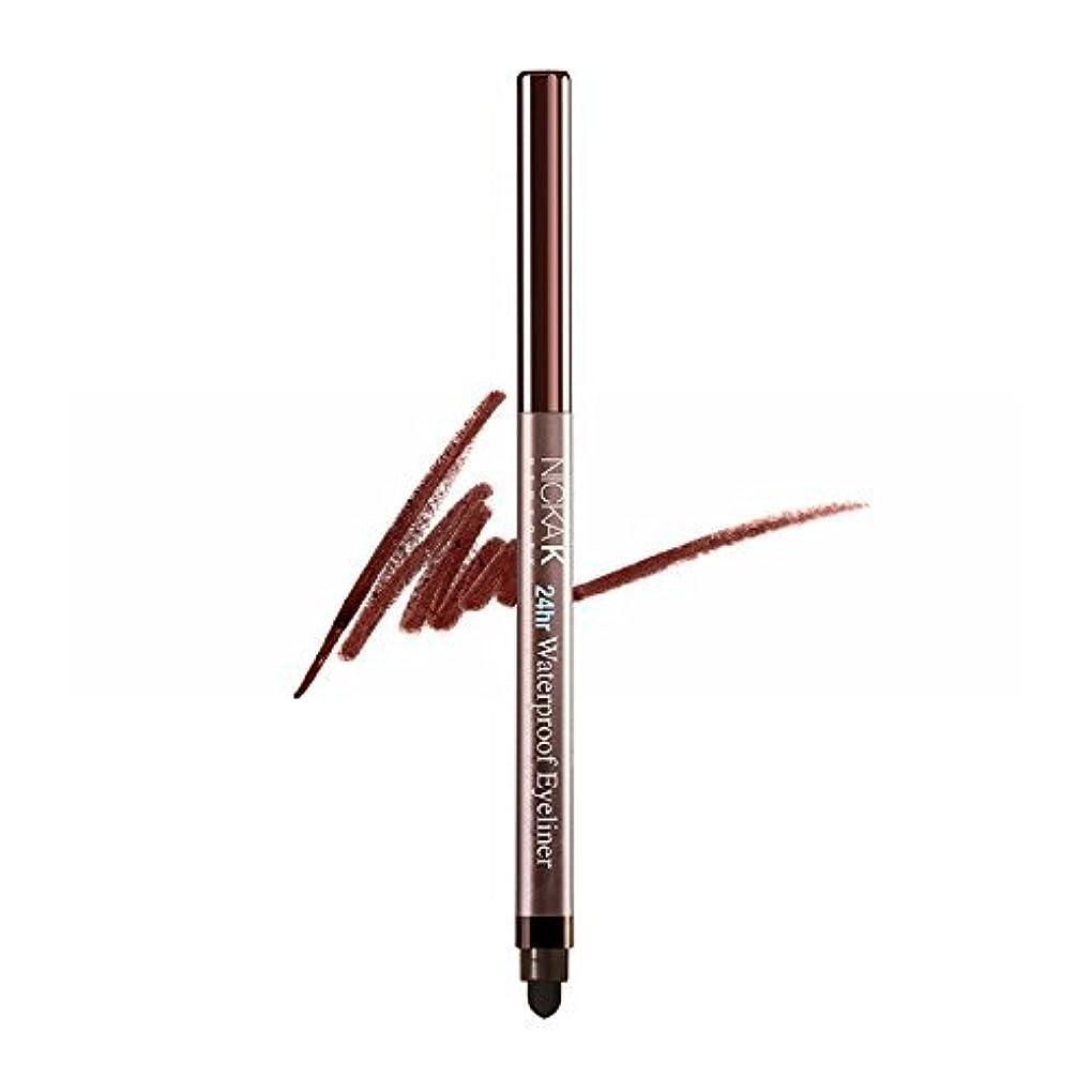 NICKA K 24Hr Waterproof Eyeliner - NYA41 Dark Brown (並行輸入品)