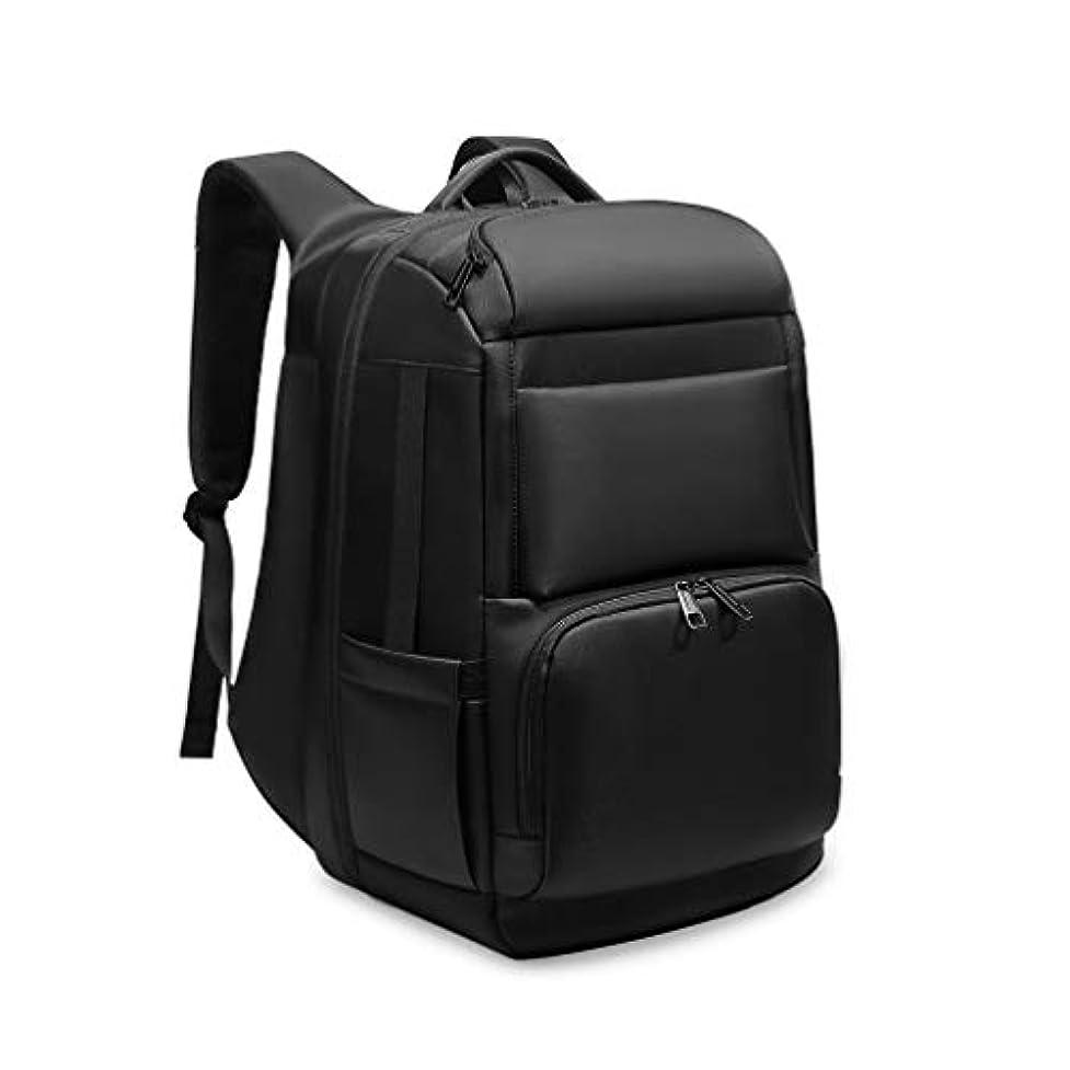 取得上院議員味わうOBOC リュック メンズ 大容量 バックパック 防水 アウトドア リュックサック35L 18インチ ビジネスリュック ブラック USB充電ポート搭載 ビ ジネスリュック 通勤 通学 旅行 出張 黒