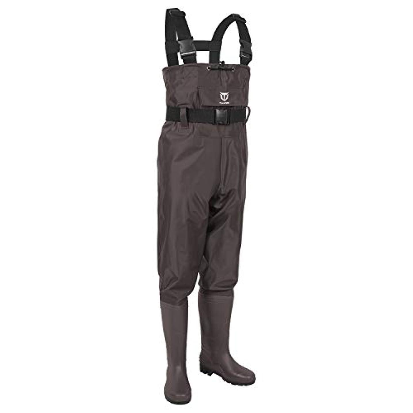 書くふりをする開梱TideWe(タイドウィー)ウェーダー PVCウェーダー 防水 釣り用スーツ チェストハイ型 フィッシングウェーダー 2色8サイズ選択可