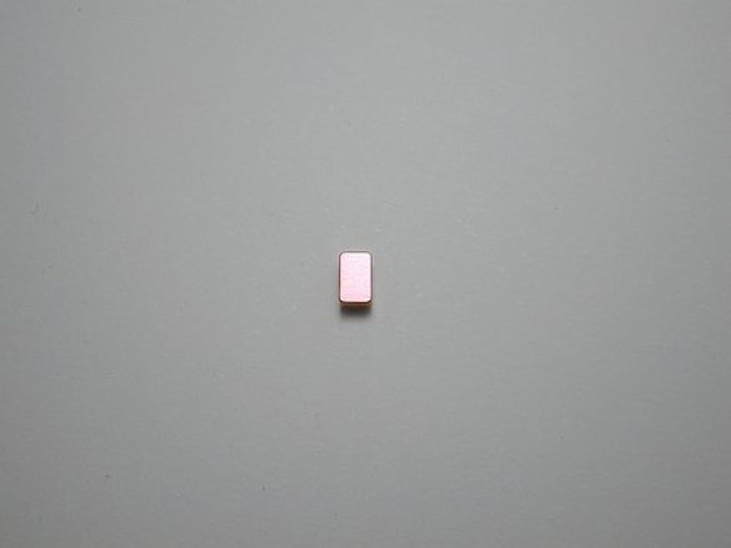 実行硬さ部屋を掃除する純チタンピアス 片耳 長方形 ピンク 金属アレルギーの方も安心