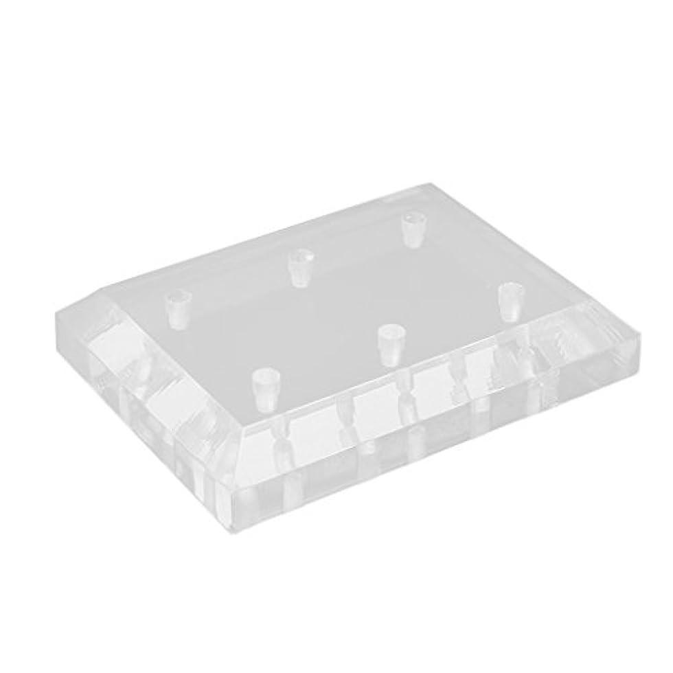 合意八系統的CUTICATE ネイルドリルビットスタンド ディスプレイホルダー オーガナイザー 収納ツール 6穴