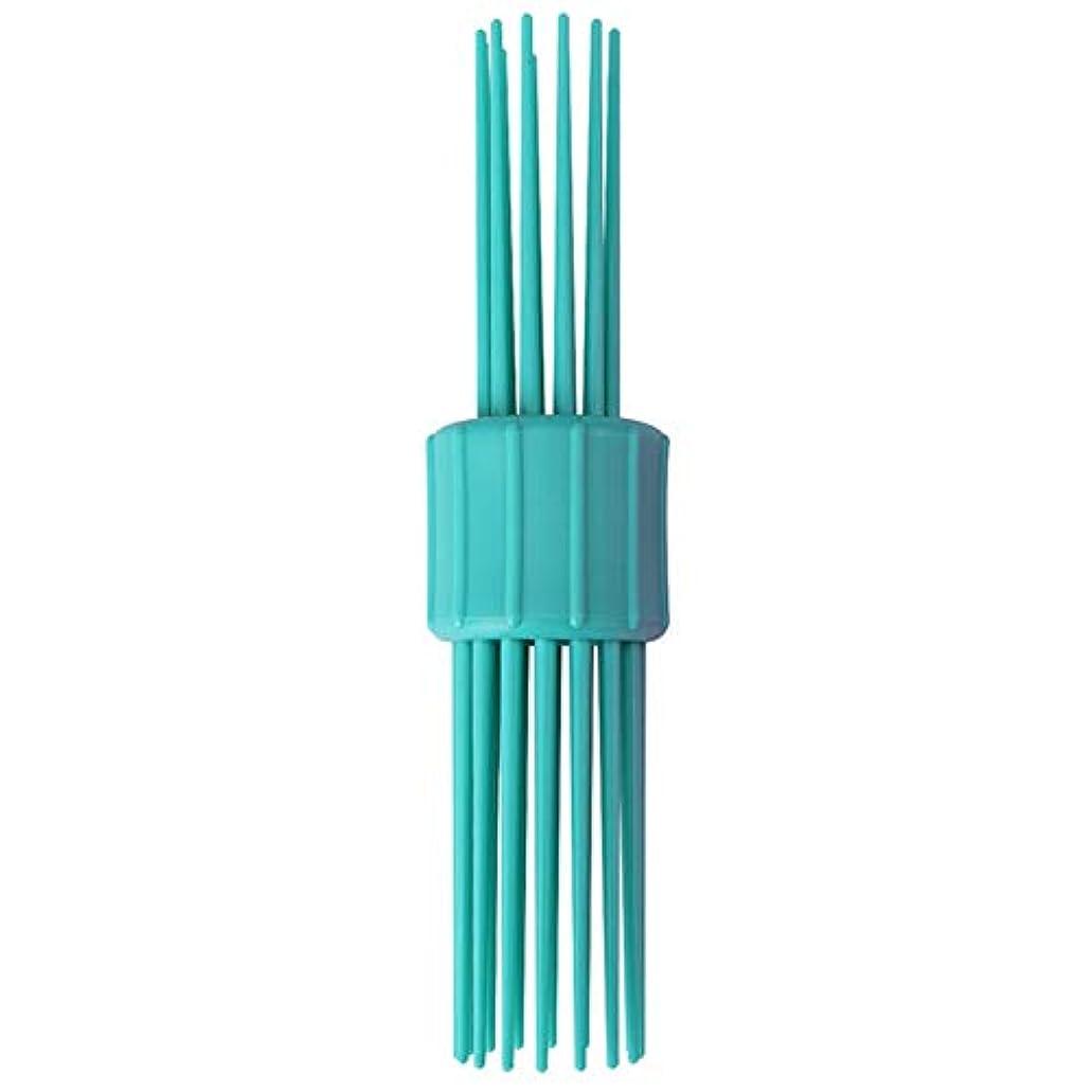 リサイクルする冷蔵するテロリストダブルクリエイティブなマルチ歯の櫛毛櫛ヘアカーリンググリーンサプライレトロな髪型