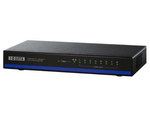 アイ・オー・データ EEE省電力機能搭載 100BASEーTX/10B ASEーT対応 8ポートスイッチングハブ ブラック ETX-ESH08