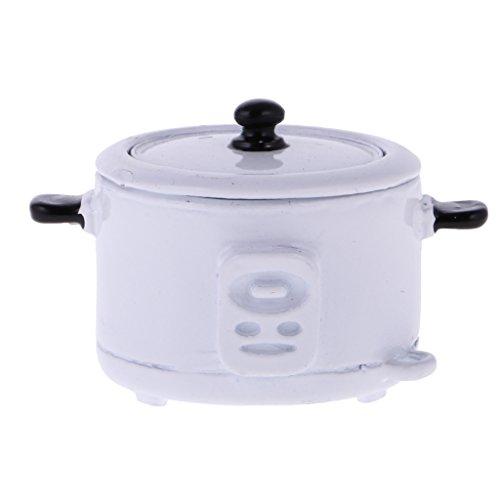 Lovoski 1:12ドールハウス 小型 炊飯器  米スプ...