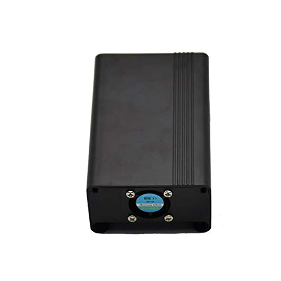 製油所カフェテリア郵便屋さんV1For Raspberry Pi 3 Bアルミニウム合金メタルケース保護、冷却ファン付きRGTRE Raspberry PIハウジングケース-ブラック