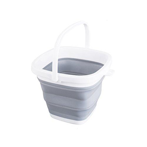 HomeMiYN 折りたたみ 多機能 ソフトバケツ アウトドア 生活用品 雑貨 釣り 餌の桶 旅行 洗車 掃除 持ち運び便利 容量3/5/10L 全4色