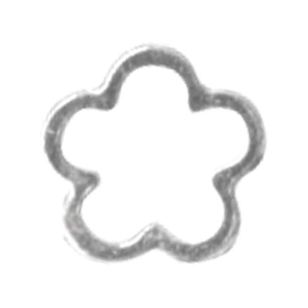 対応誤解させる傾斜リトルプリティー ネイルアートパーツ サクラ SS シルバー 10個