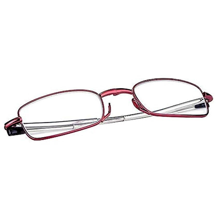 返済接尾辞収益携帯用老眼鏡、おしゃれな男性と女性の折りたたみ式カードリーダー、引き込み式の寺院、春の蝶番(+3.0)