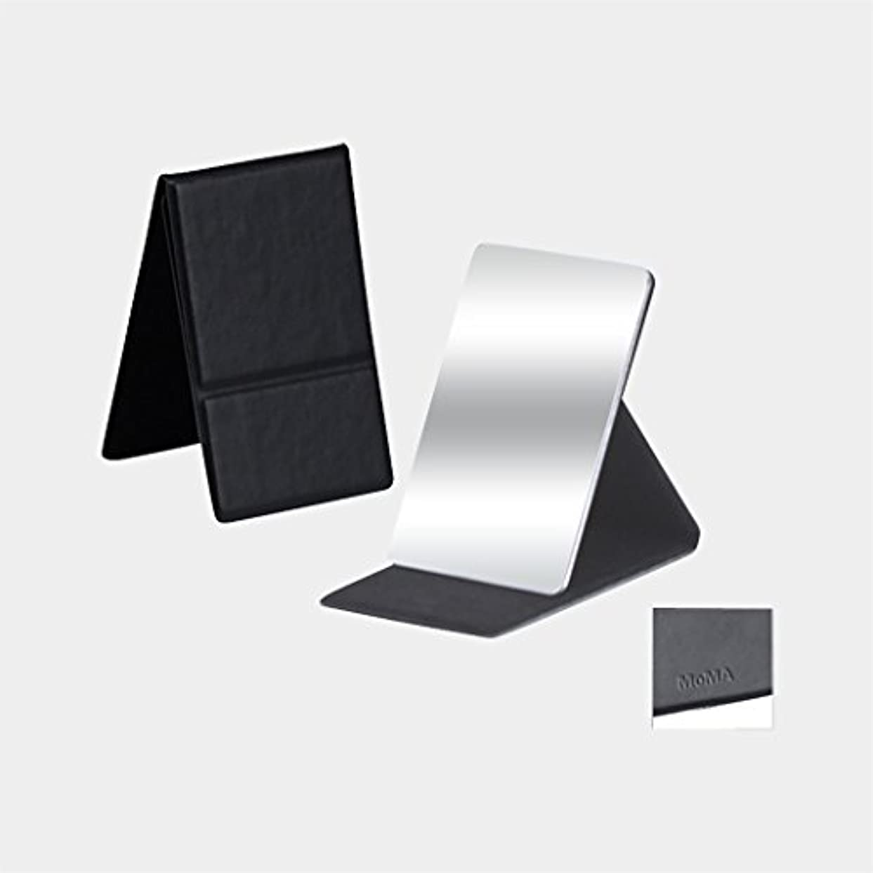 アルバムネブレベルMoMA ステンレス コンパクトミラー ブラック