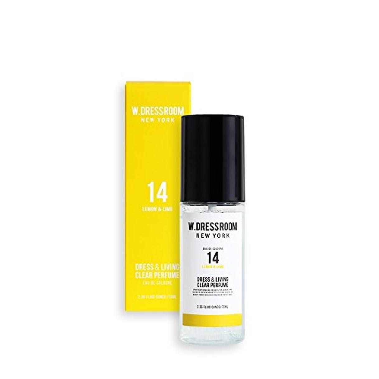 屋内ショット洗うW.DRESSROOM Dress & Living Clear Perfume 70ml/ダブルドレスルーム ドレス&リビング クリア パフューム 70ml (#No.14 Lemon & Lime) [並行輸入品]