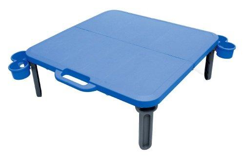 伸和 パピヨンレジャーテーブル(カップホルダー付) 角型 ブルー