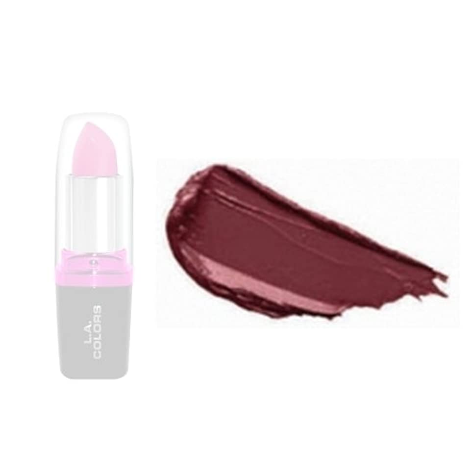 人差し指含むバターLA Colors Hydrating Lipstick - Bordeaux (並行輸入品)