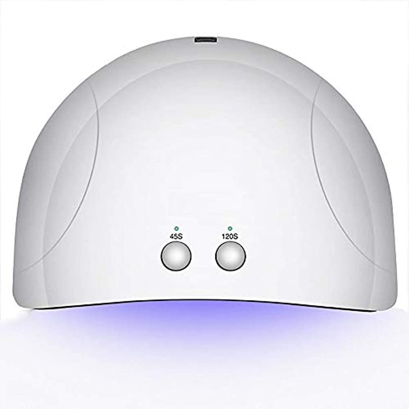 二週間フェローシップ釘のドライヤー - 自動赤外線センサー、二重光源のLEDランプのゲルのドライヤーのマニキュアが付いている紫外線携帯用LEDの釘ランプ