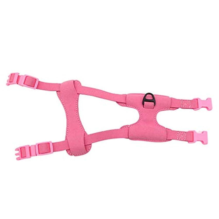 カウンタ責任不要犬用ハーネス ベスト ペット用 犬 猫 バックルのデザイン 簡単脱着 散歩 お出かけ用 全3色 S - ピンク