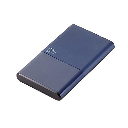 エレコム モバイルバッテリー 薄型 5000mAh USBポート×2 急速充...