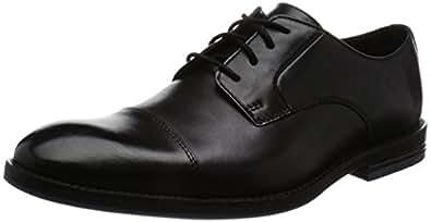 [クラークス] シューズ メンズ プラングリーキャップ 26123255 Black Leather ブラックレザー UK 8.5(26.5cm)