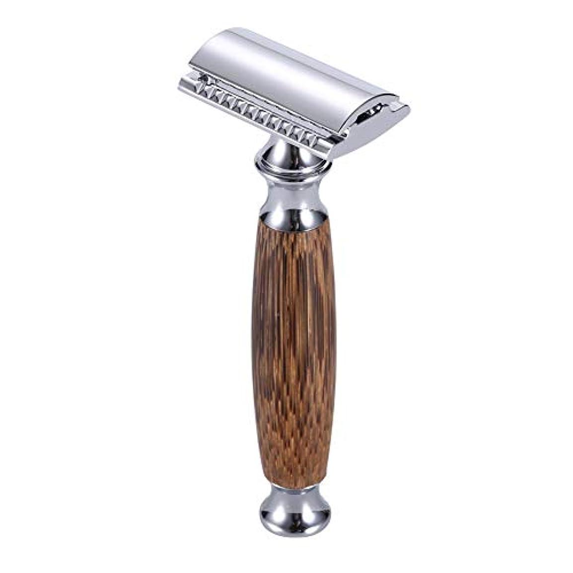 カミソリ本体 ナチュラル竹 ホルダー両刃カミソ クラシック ダブルエッジ かみそり手動 髭剃り替刃 5枚