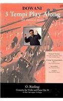 3 Tempi Play Along for Classical Music: Concerto for Violin and Piano Op. 34 G-dur/Sol Majeur/G-major