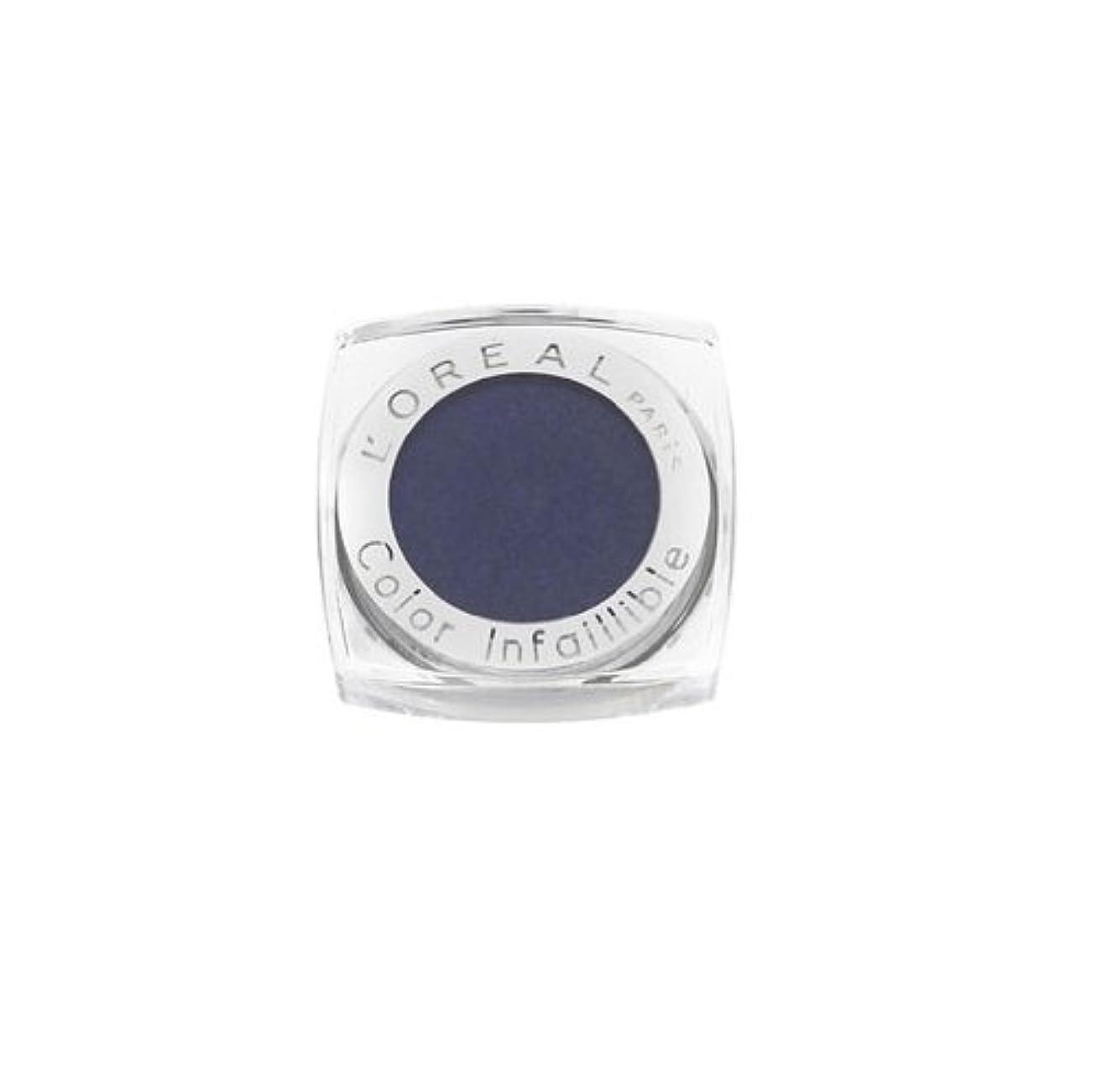 ピッチャー担保クロールL'OREAL - Ombre à Paupières - Color Infaillible - 6 ALL NIGHT BLUE(fr)