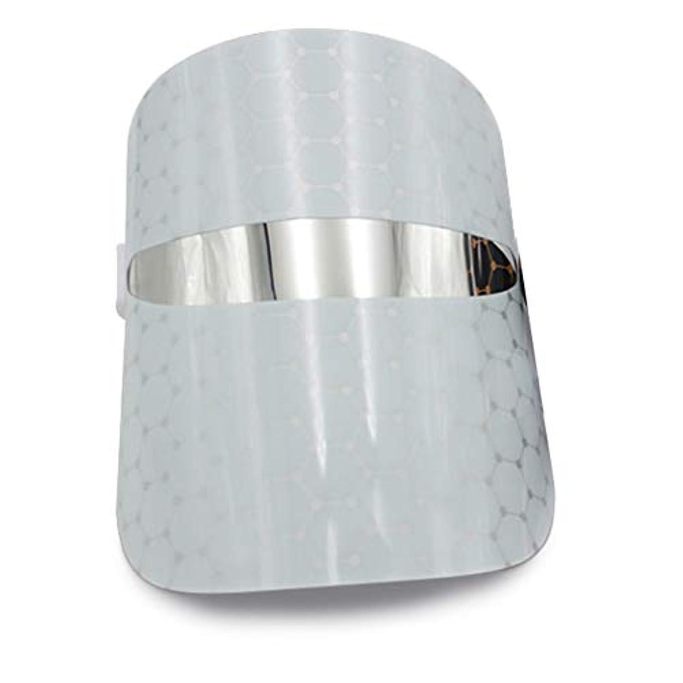 警告役職用心する光線療法のフェイスマスク、光線療法LEDマスクフェイシャルセラピー肌の若返りにきびの老化防止フェイシャルスキンケアマスクアンチエイジングホワイトニングしわそばかす除去