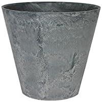 アートストーン ラウンド 27cm グレー /底面給水型植木鉢(底栓付)