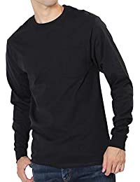 Hanes(ヘインズ) ポケット付き ロングスリーブ Tシャツ メンズ 長袖 ロンT コットン100%