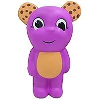cinhentおもちゃ愛らしい大きな目チョコレートチップ耳ベアクリーム香りつきチャーム大人子供Squeeze応力Reliever Toys