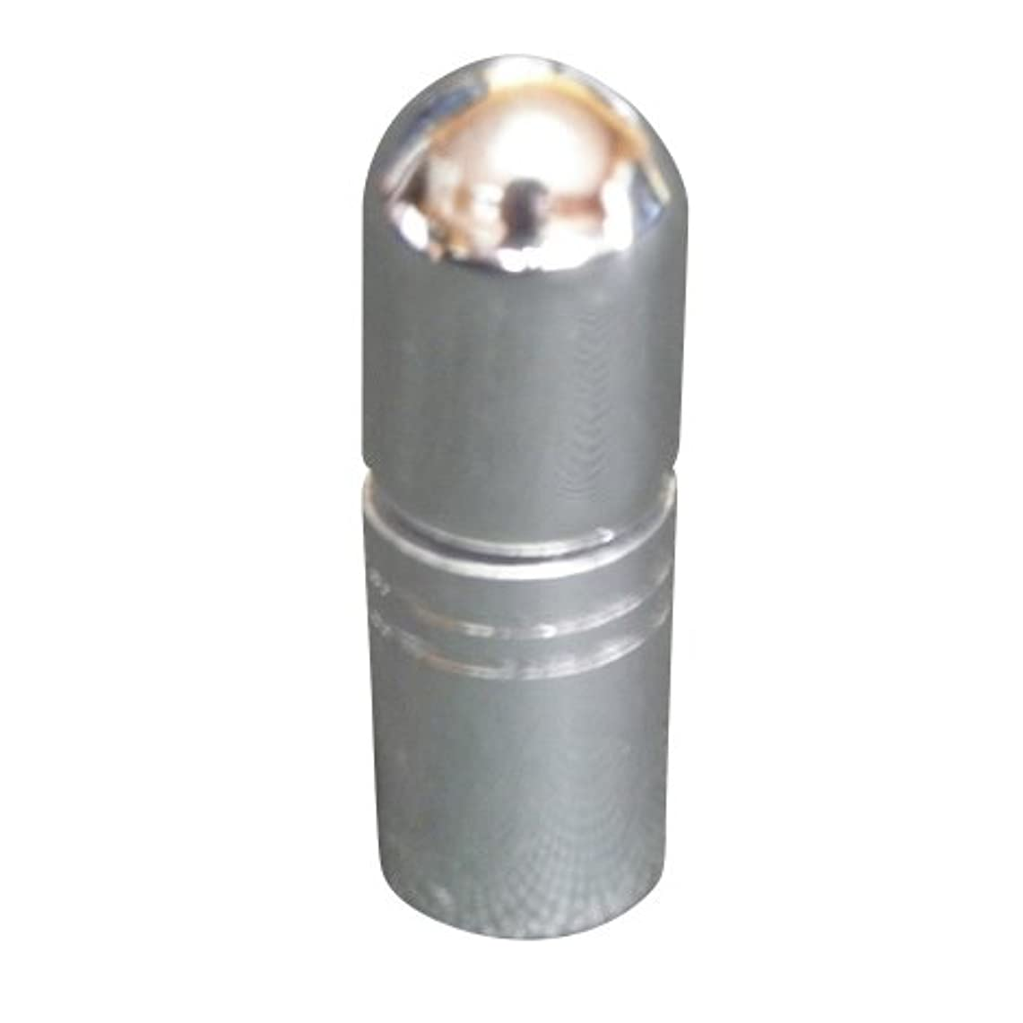 鎖大騒ぎ本物のアトマイザー 携帯 持ち運び ミニ サイズ 3ml ロール オン タイプ 香水 詰め替え (シルバー)