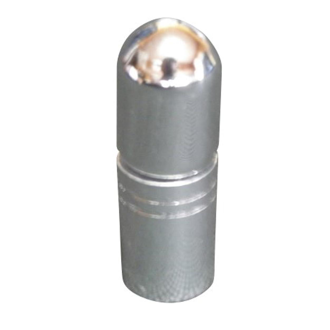 雨パトロンフリースアトマイザー 携帯 持ち運び ミニ サイズ 3ml ロール オン タイプ 香水 詰め替え (シルバー)
