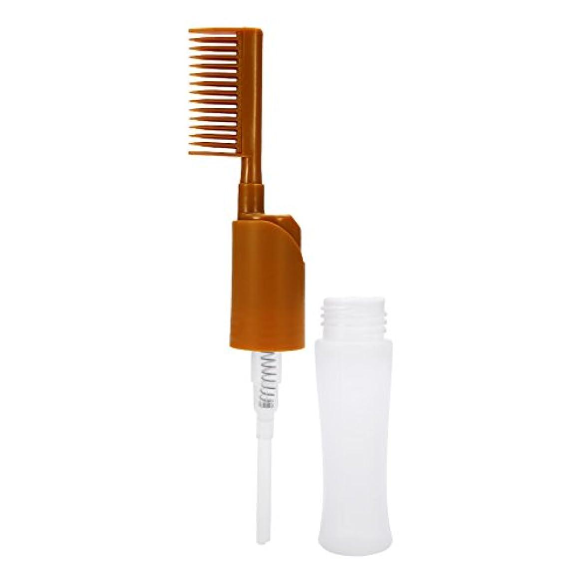 ウイルス疲労朝ごはん染まるびん、大広間の櫛のアプリケーターの黄色を染める毛の染料のびんの櫛