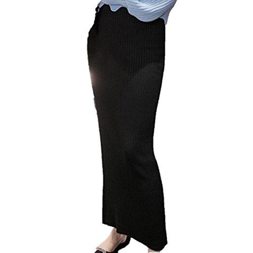 Y-MTY (ワイエムティーワイ) 美ライン ニット ウール スカート 黒 グレー ブラウン ワインレッド ゆったり 履き心地抜群 タイトスカート レディース ロング マキシ丈 ペンシルスカート
