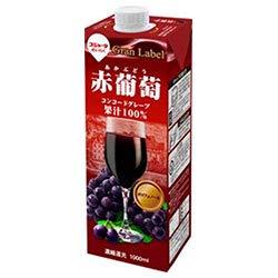 スジャータ 赤葡萄(濃縮還元) 1000ml紙パック×6本入×(2ケース)