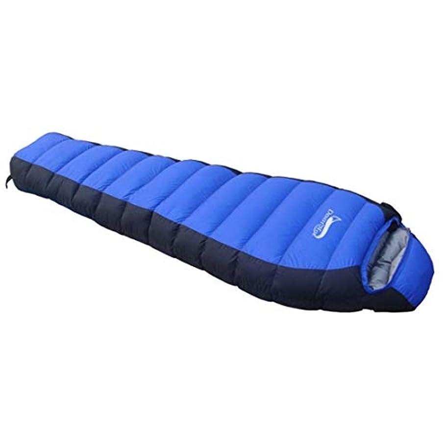 宴会アーネストシャクルトン隙間JOYS CLOTHING 寝袋屋外超軽量冬の大人の寝袋キャンプ休憩ロック暖かい木の寝袋 (Color : Blue)
