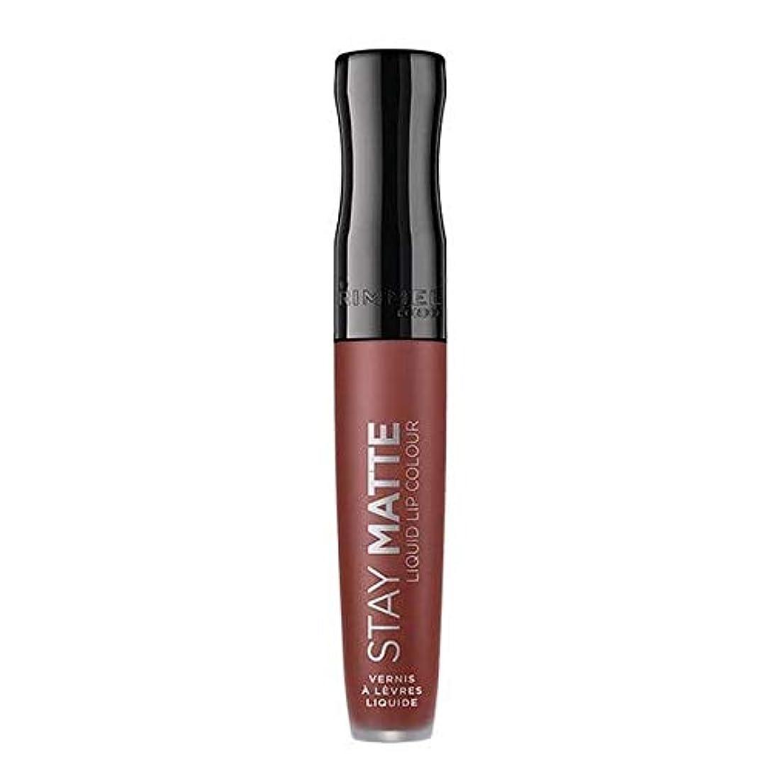 [Rimmel ] リンメルステイマット液体リップ口紅のトラブル - Rimmel Stay Matte Liquid Lip Lipstick Troublemaker [並行輸入品]