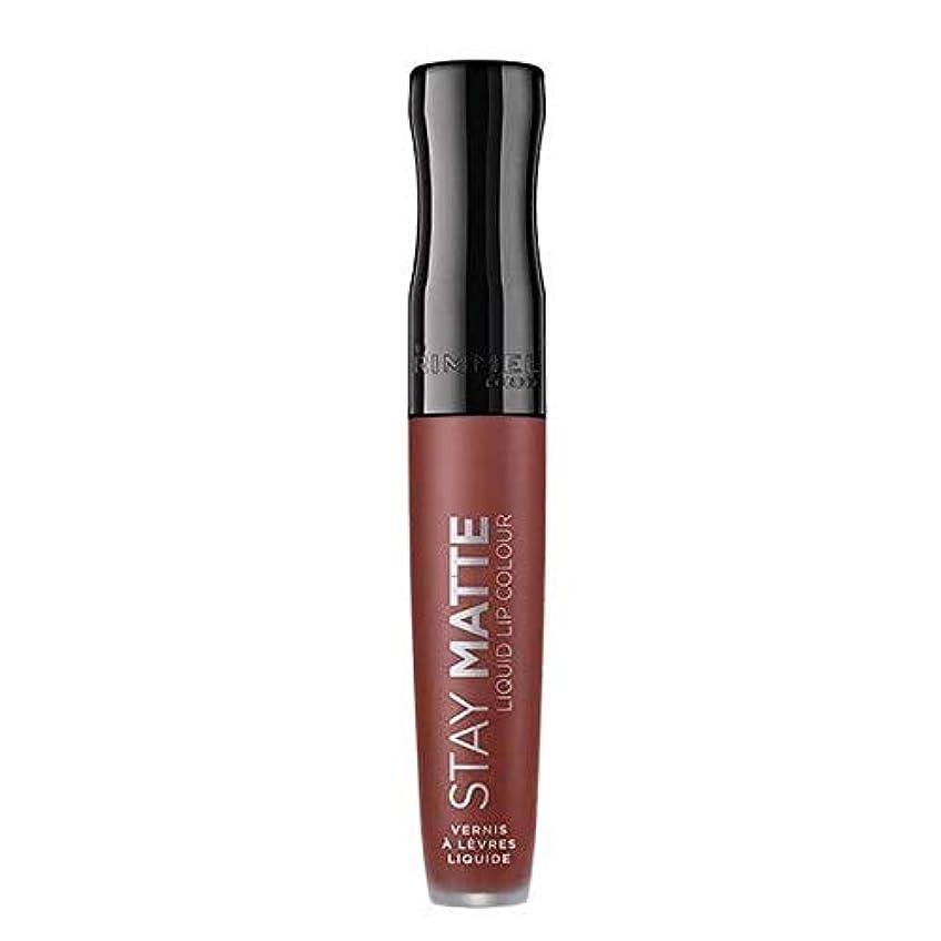 メロディー急降下筋[Rimmel ] リンメルステイマット液体リップ口紅のトラブル - Rimmel Stay Matte Liquid Lip Lipstick Troublemaker [並行輸入品]
