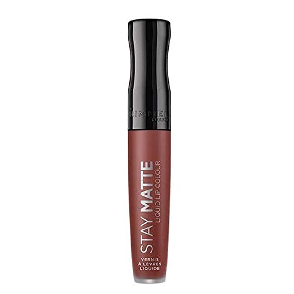 五十捕虜貴重な[Rimmel ] リンメルステイマット液体リップ口紅のトラブル - Rimmel Stay Matte Liquid Lip Lipstick Troublemaker [並行輸入品]