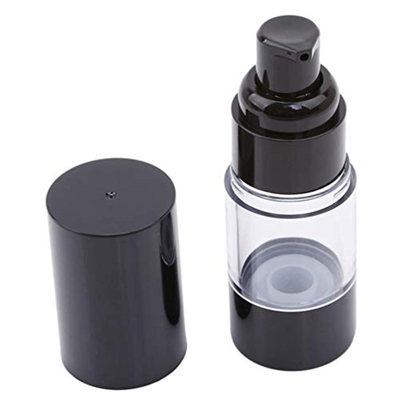 反論者前提リネンLJSLYJ 真空ポンプ化粧品ボトル旅行ポータブルBBクリームファンデーションプレスミニエマルジョンスプレー空のボトル、15ミリリットル
