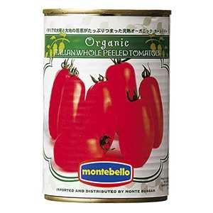 モンテベッロ (スピガドーロ) 有機ホールトマト缶 400g