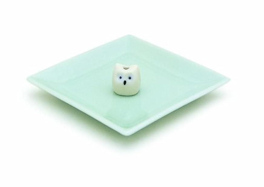 飲み込む意気込み単調な陶器香皿&ミミズク香立