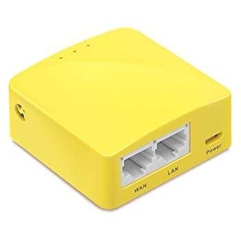 【技適認証済】GL.iNet GL-MT300N-V2 Nano 無線LANトラベル vpn ルーター 中継器ブリッジ 11n/g/b 高性能300Mbps 128MB RAM ホテル用 OpenWrtインストール OpenVPN/WireGuardクライアントとサーバーインストール