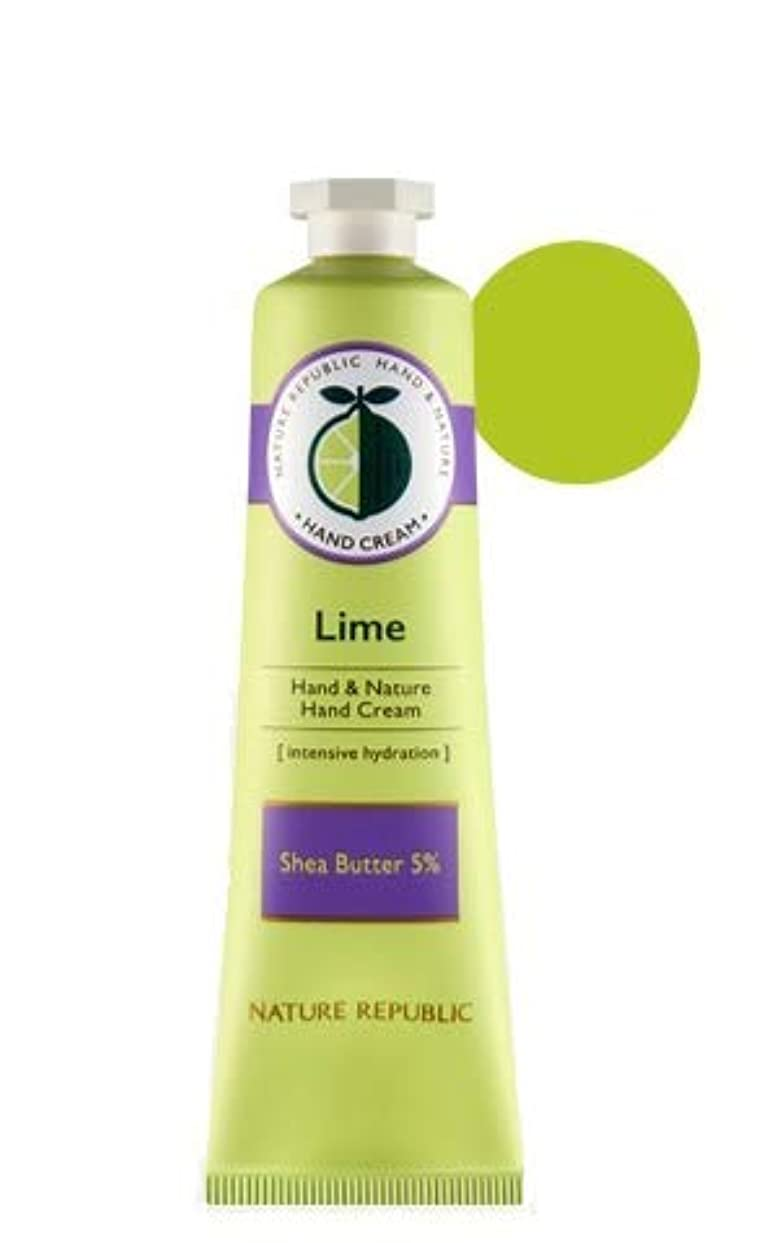 薬局オーロック統治可能[1+1]ネイチャーリパブリック NATURE REPUBLIC ハンドアンドネイチャーハンドクリーム Hand & Nature Hand Cream (# LIME) [並行輸入品]