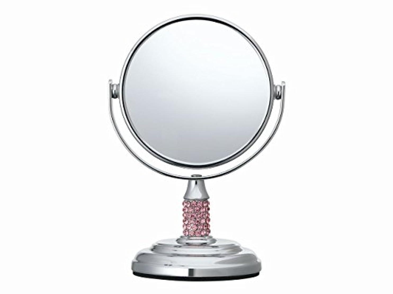 中絶ふりをするタップコイズミ 拡大鏡 サイズφ75mm ピンク KBE-3051/P
