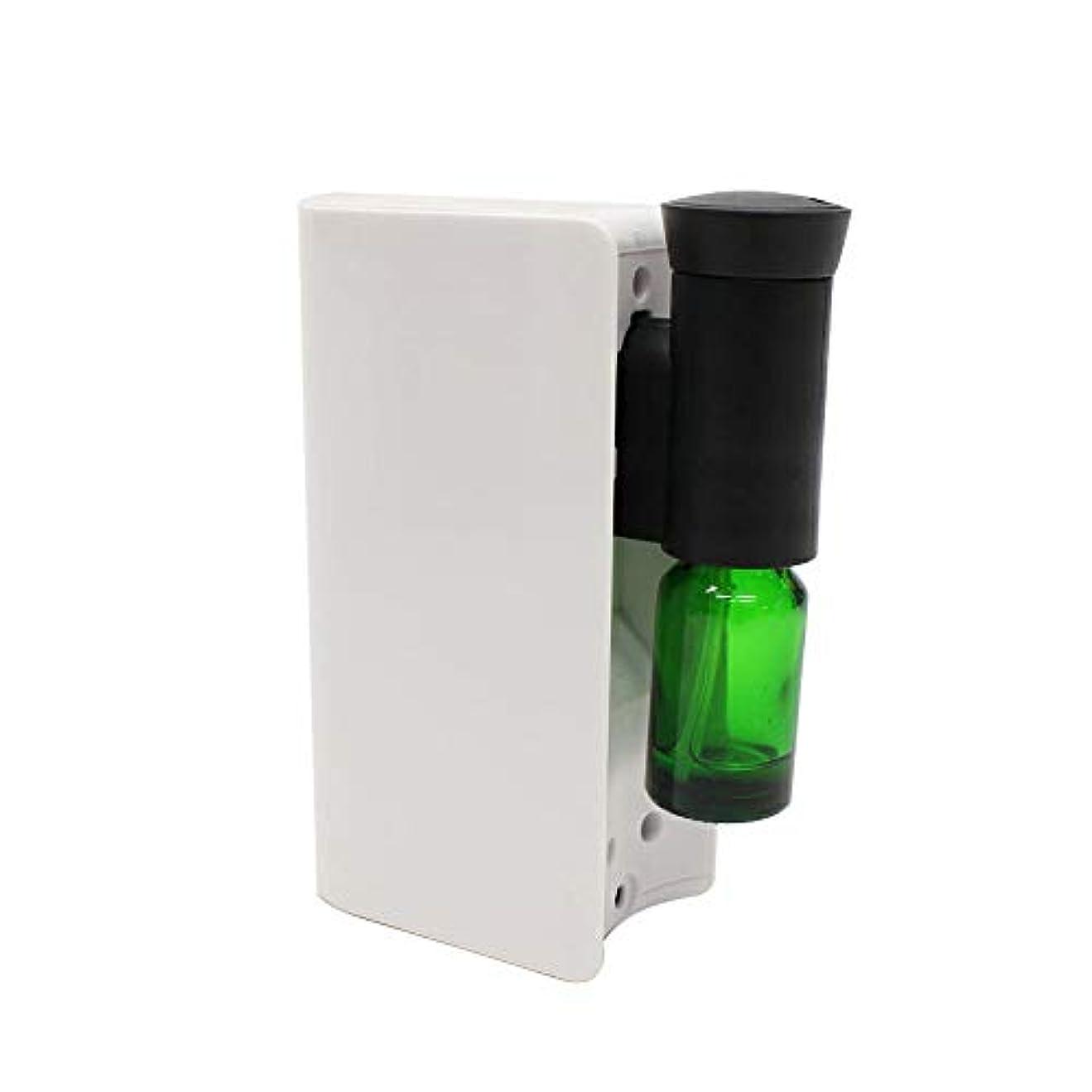 オフセットぼかし振り返るアロマ ディフューザー 電池式アロマディフューザー 水を使わない ネブライザー式 アロマオイル対応 自動停止 ECOモード搭載 香り 癒し シンプル コンパクト ホワイト
