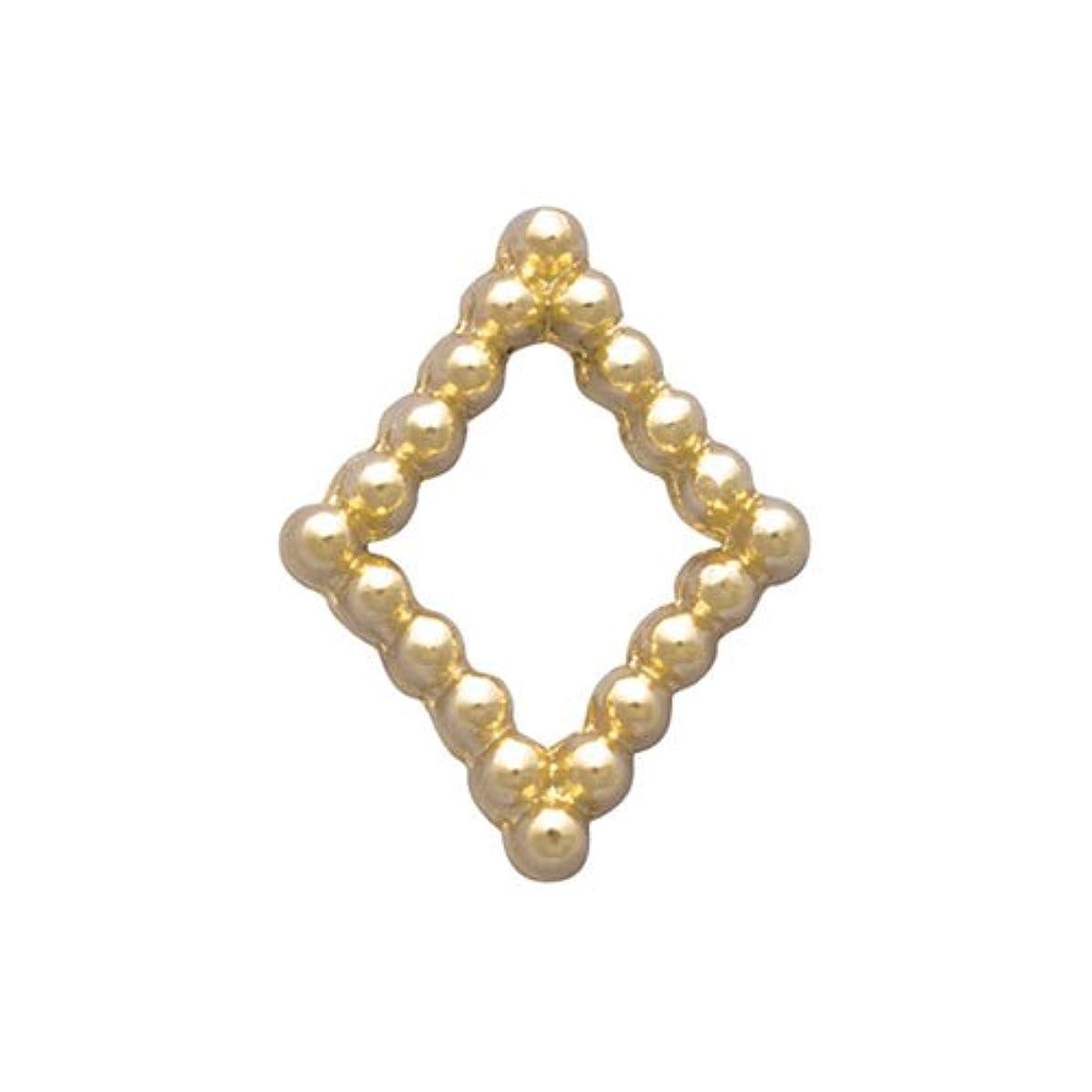 長方形モード冷えるプリティーネイル ネイルアートパーツ ブリオンキラキラS ゴールド PN-733G 15個